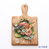 Capodimonte porcelain flower Board rectangular T20 bird