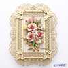 Capodimonte porcelain flowers gold-rimmed race OC31 flower S