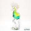 Colle Vilca / Italian Art Glass 'Papageno (Bird)' Green J-070-38-00 Animal Figurine H34cm
