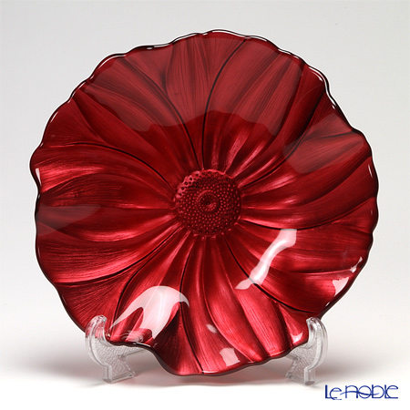 IVV Magnolia Plate 28 cm, pearlized red decoration 5334 / 1