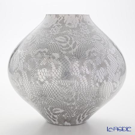 IVV Floreal Vase H22.5 cm, Decor silver / White, 7635.1