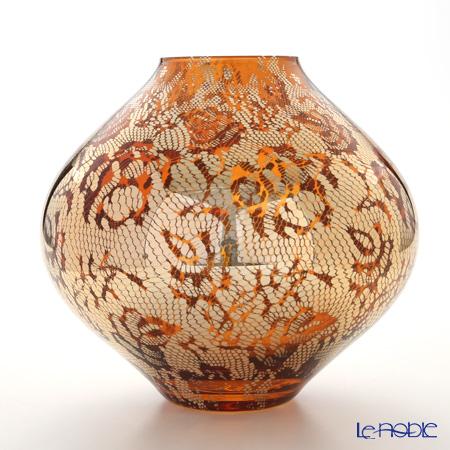 IVV Floreal Vase H22.5cm, Decor gold / Amber, 7635.3