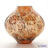 IVV 'Floreal' Amber Yellow & Gold decor 7635.3 Vase H22.5cm