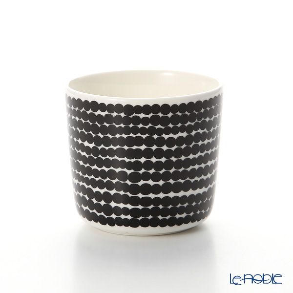 Marimekko 'Siirtolapuutarha / City Garden' White x Black 063291-190 Coffee Cup without handle