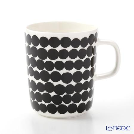 Marimekko Oiva/Siirtolapuutarha Mug, 2,5 dl, white, black/räsymatto