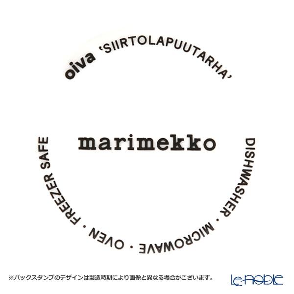 マリメッコ(marimekko) Siirtolapuutarha シイルトラプータルハ/市民菜園プレート 20cm(チャコールグレー)