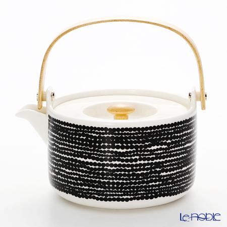 Marimekko 'Siirtolapuutarha / City Garden' White x Black 063305-190 Tea Pot 700ml