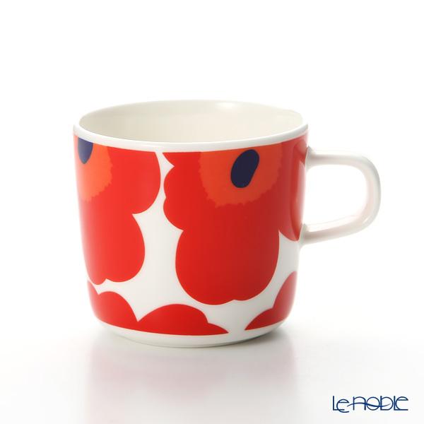 マリメッコ(marimekko) Unikko ウニッコ コーヒーカップ ホワイト×レッド200ml