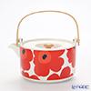 Marimekko (marimekko) UNIKKO Teapot White x red 17 cm