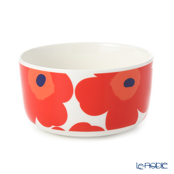 Marimekko Unikko / Poppy White x Red Bowl 500ml