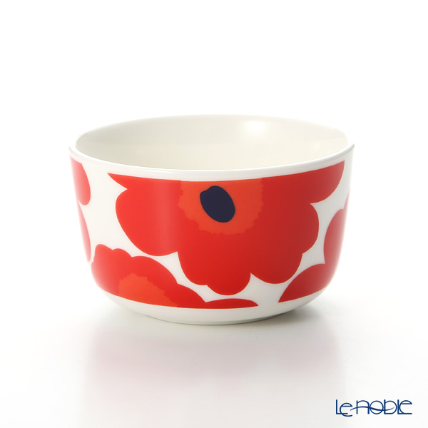 Marimekko Unikko / Poppy White x Red Bowl 250ml