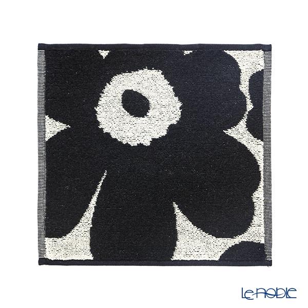 マリメッコ(marimekko) Unikko ウニッコ ミニタオル ブラック×ベージュ 25×25cm コットン 063837-980