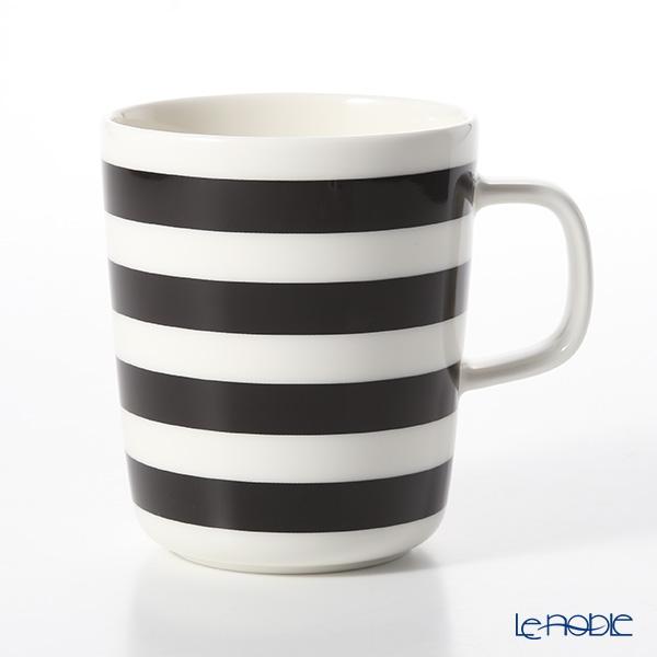 マリメッコ(marimekko) Tasaraita タサライタ/横縞 18SS マグカップ ブラック×ホワイト 250ml