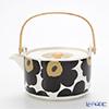 Marimekko (marimekko) UNIKKO Teapot White x black 17 cm
