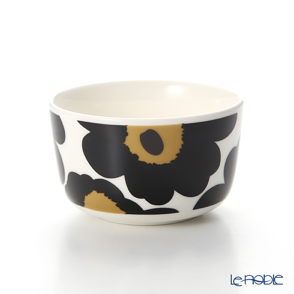 Marimekko Unikko / Poppy White x Black Bowl 250ml