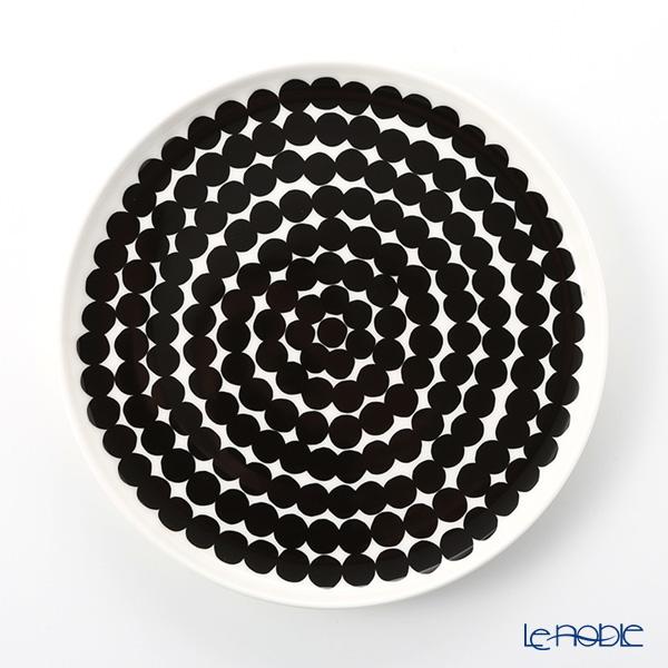 Marimekko 'Siirtolapuutarha / City Garden' White x Black Plate 20cm