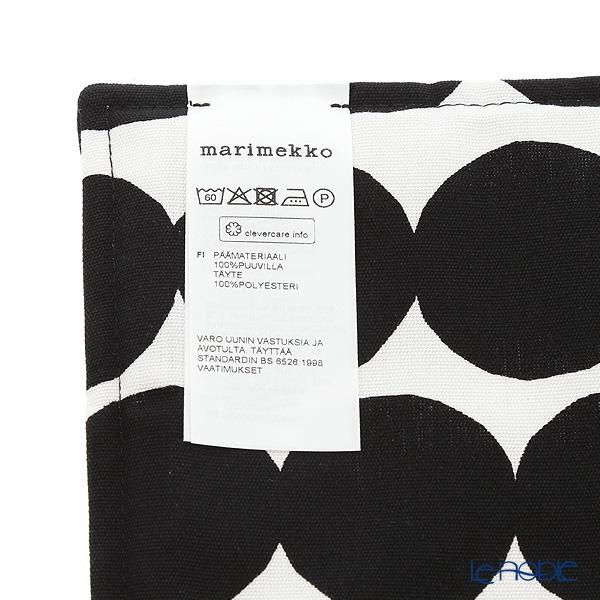 マリメッコ(marimekko) Rasymatto ラシィマット/使い込まれたラグポットホルダー ホワイト×ブラック 21×21cm コットン