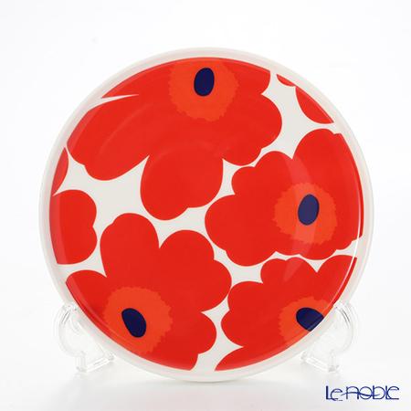 Marimekko 'Unikko / Poppy' White x Red Plate 20cm