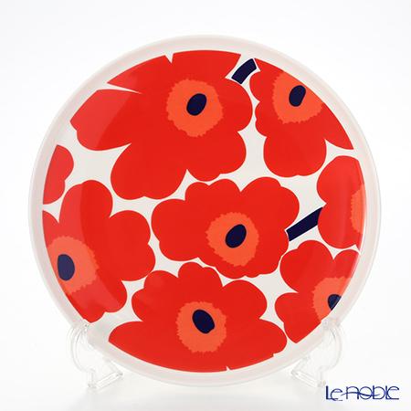 Marimekko 'Unikko / Poppy' White x Red Plate 25cm