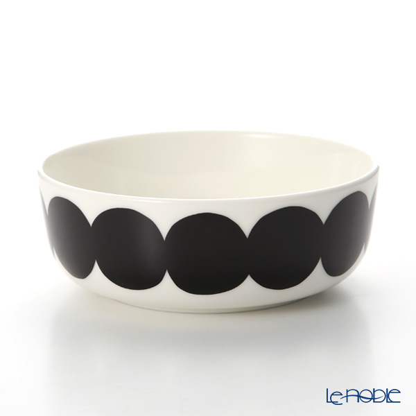 Marimekko Rasymatto / Rag Rug White x Black Bowl 400ml