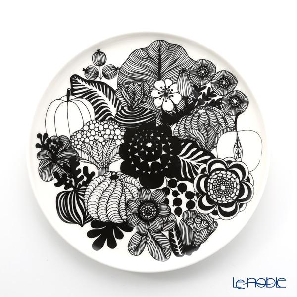 Marimekko 'Siirtolapuutarha / City Garden' Black Plate 20cm