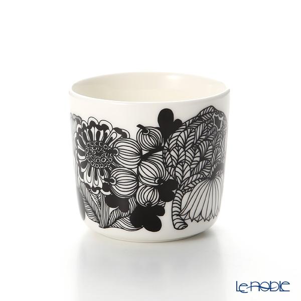 Marimekko 'Siirtolapuutarha / City Garden' White x Black x Yellow Coffee Cup without handle