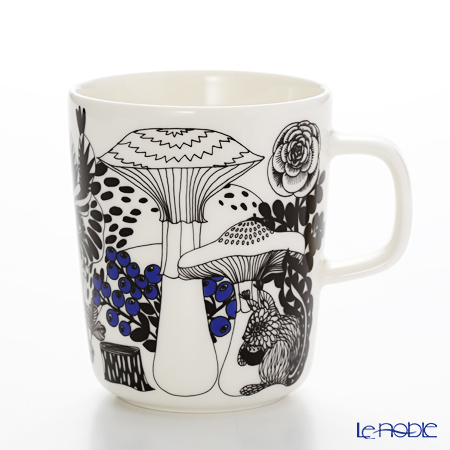 Marimekko Veljekset / Brothers 17AW White x Black x Blue Mug 250ml