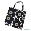 Marimekko 'Unikko / Poppy' White x Black Fabric Bag 43cm (Cotton)