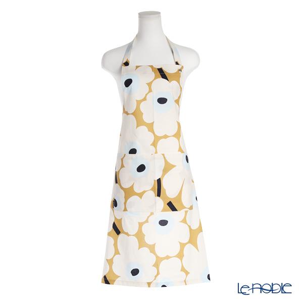 Marimekko 'Pieni Unikko / Poppy' Beige x Off White x Blue 064161-815 Apron 83x83cm (Cotton)