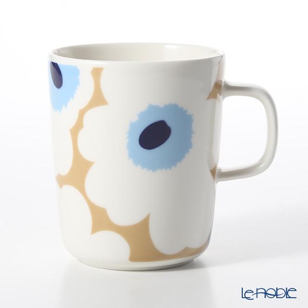 マリメッコ(marimekko) Unikko ウニッコ 18SS マグカップ ベージュ×オフホワイト×ブルー 250ml