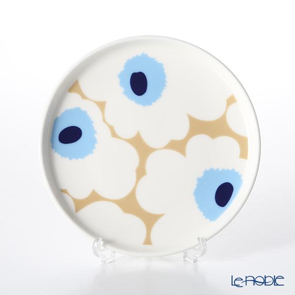 マリメッコ(marimekko) Unikko ウニッコ 18SS プレート ベージュ×オフホワイト×ブルー 13cm