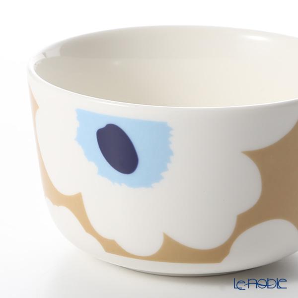 マリメッコ(marimekko) Unikko ウニッコ 18SSボウル ベージュ×オフホワイト×ブルー 250ml