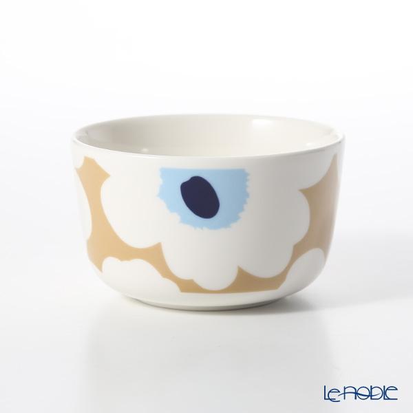 Marimekko 'Unikko / Poppy' Beige x Off White x Blue Bowl 250ml