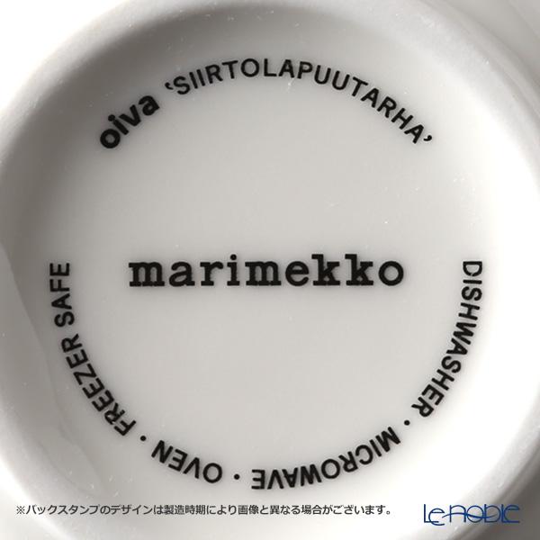 マリメッコ(marimekko) Siirtolapuutarha シイルトラプータルハ/市民菜園マグカップ 250ml ホワイト×ブラック×グリーン 063296-196/18SS