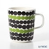 Marimekko Oiva/Siirtolapuutarha Mug, 2,5 dl, white, black, green