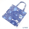Marimekko Mynsteri / Pattern for Making Bobbin Lace White x Blue 18SS Bag 43x43cm