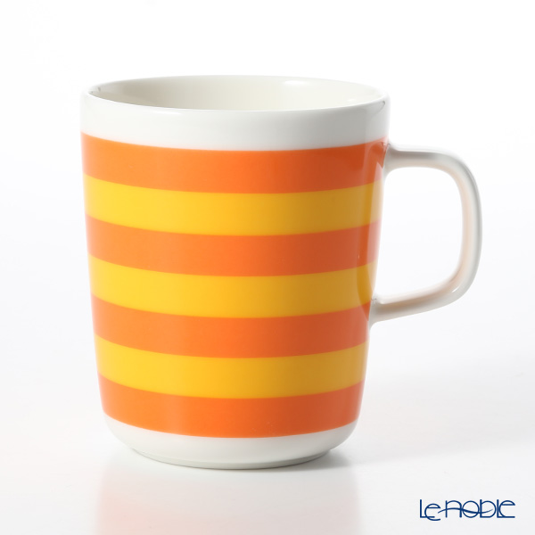マリメッコ(marimekko) Tasaraita タサライタ/横縞 18SS マグカップ オレンジ×イエロー 250ml