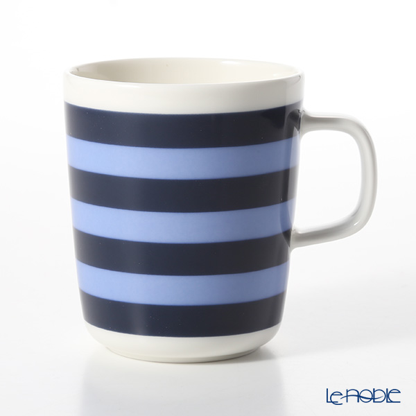 Marimekko 'Tasaraita / Stripes' Dark Blue x Light Blue Mug 250ml
