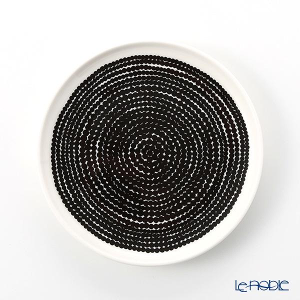 Marimekko 'Rasymatto / Rag Rug' White x Black 069071-190 Plate 13.5cm