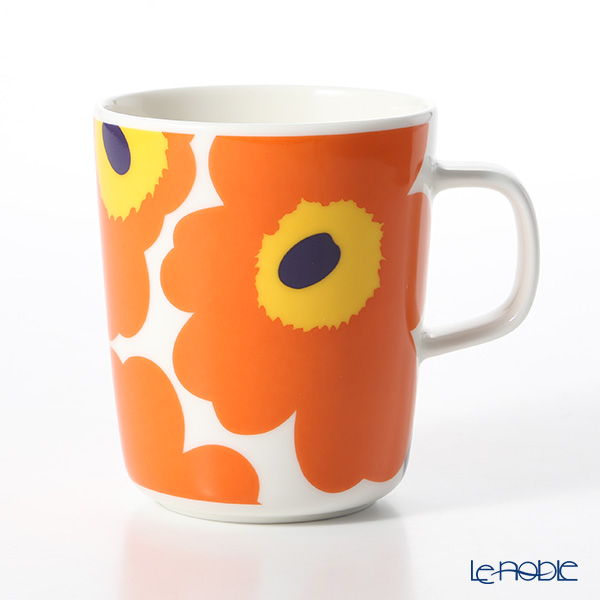 マリメッコ(marimekko) Unikko ウニッコ 18SS マグカップ ホワイト×オレンジ 250ml