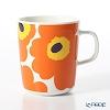 Marimekko Oiva/Unikko Mug 2,5 dl, white, orange