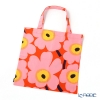 Marimekko 'Unikko / Poppy' Orange x Pink x Yellow Fabric Bag 43cm (Cotton)
