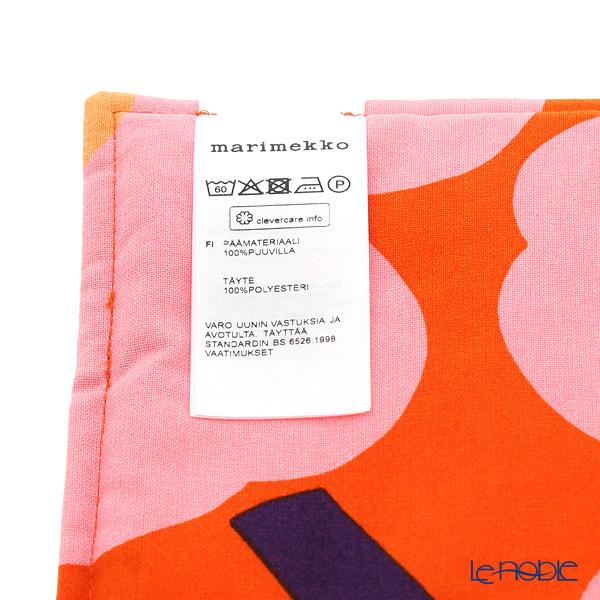 マリメッコ(marimekko) Unikko ウニッコ 18SSポットホルダー オレンジ×ピンク×イエロー 21×21cm コットン