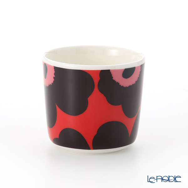 Marimekko 'Unikko / Poppy' Red x Violet x Pink Coffee Cup without handle (set of 2)