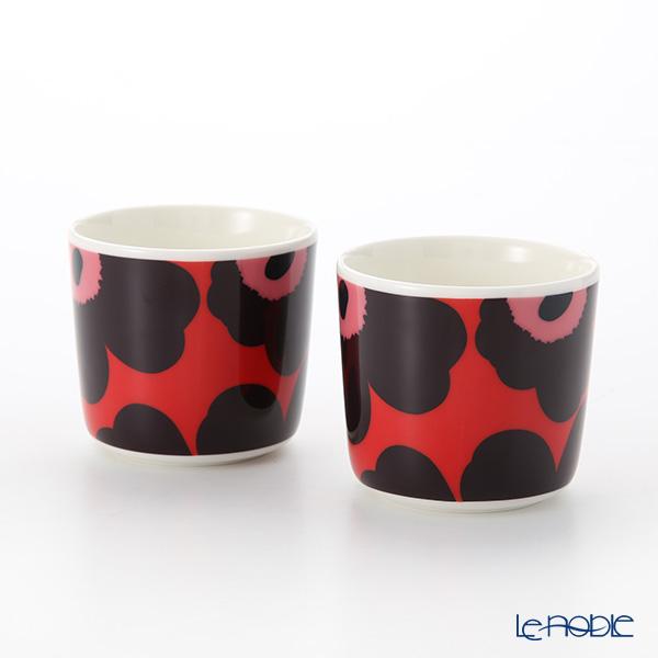 マリメッコ(marimekko) Unikko ウニッコ 18AW コーヒーカップセット(ハンドルなし) RD×VI×PK