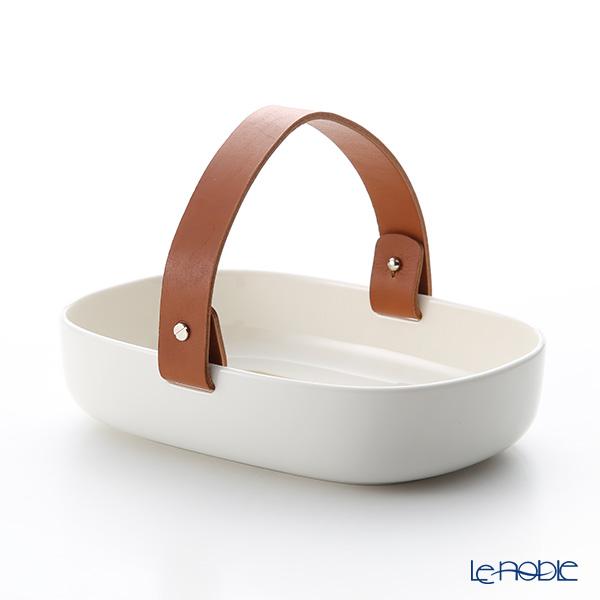 Marimekko Svaale / Arctic Fox 18AW Coppa with leather handle (ceramic basket) 14x20cm