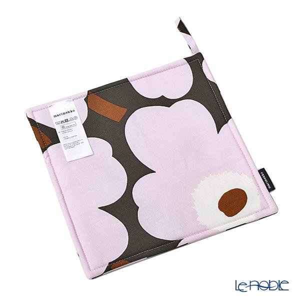 Marimekko Pieni Unikko / Poppy Dark Gray x Pink 19SS Pot Holder 21.5cm (cotton)