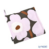Marimekko 'Pieni Unikko / Poppy' Dark Gray x Pink Pot Holder 21.5x21.5cm (Cotton)