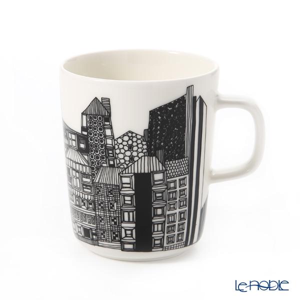 Marimekko 'Siirtolapuutarha / City Garden' White x Black x Gold Mug 250ml (Oiva 10th Anniversary)