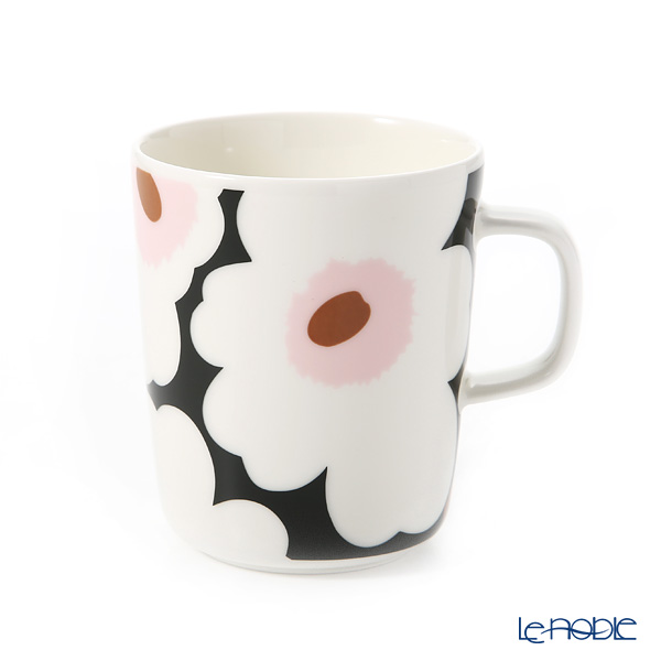 Marimekko 'Unikko / Poppy' White x Green x Pink Mug 250ml